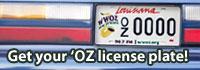 OZ License Plate